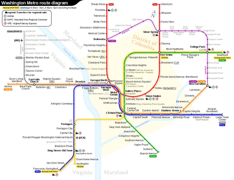 美国华盛顿地铁线路图 运营时间票价站点 查询下载 华盛顿地铁查询 华盛顿地铁票价 华盛顿地铁运营时间 华盛顿地铁线路图 美国地铁 华盛顿地铁 美国地铁线路图  第2张