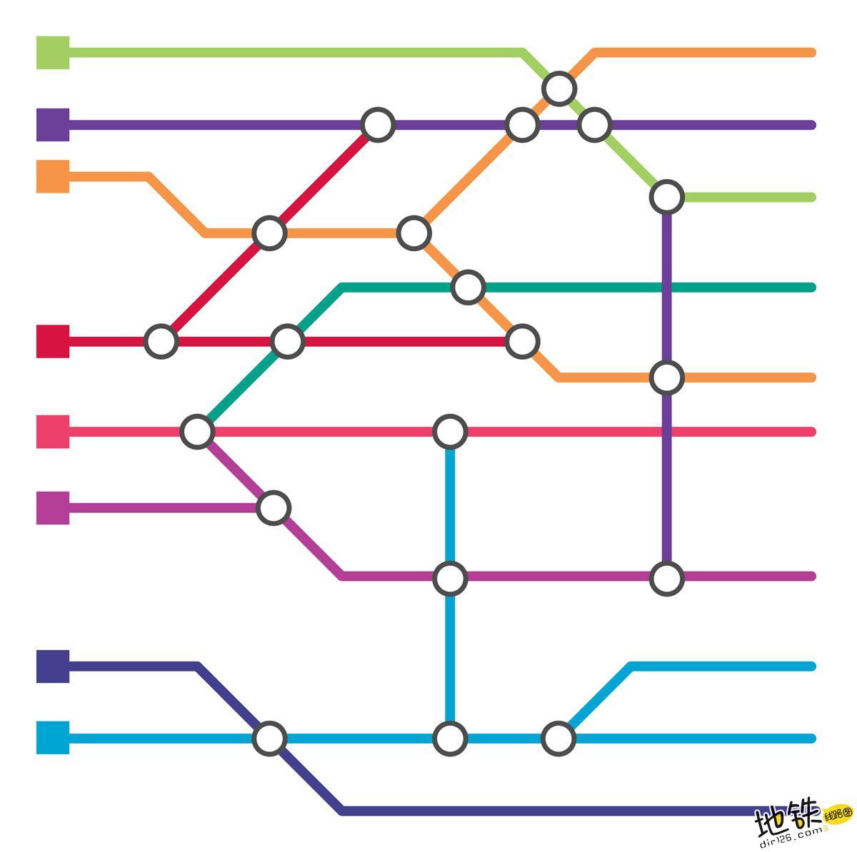 城市轨道交通地铁线路的布置方式及分类 联合式 分离式 线网 地铁 轨道交通 轨道知识  第1张