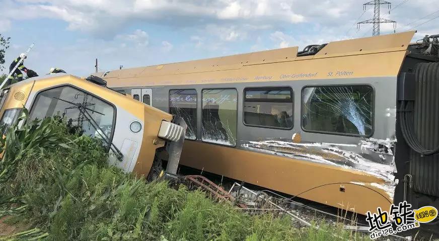奥地利一列车发生脱轨 数十人受伤