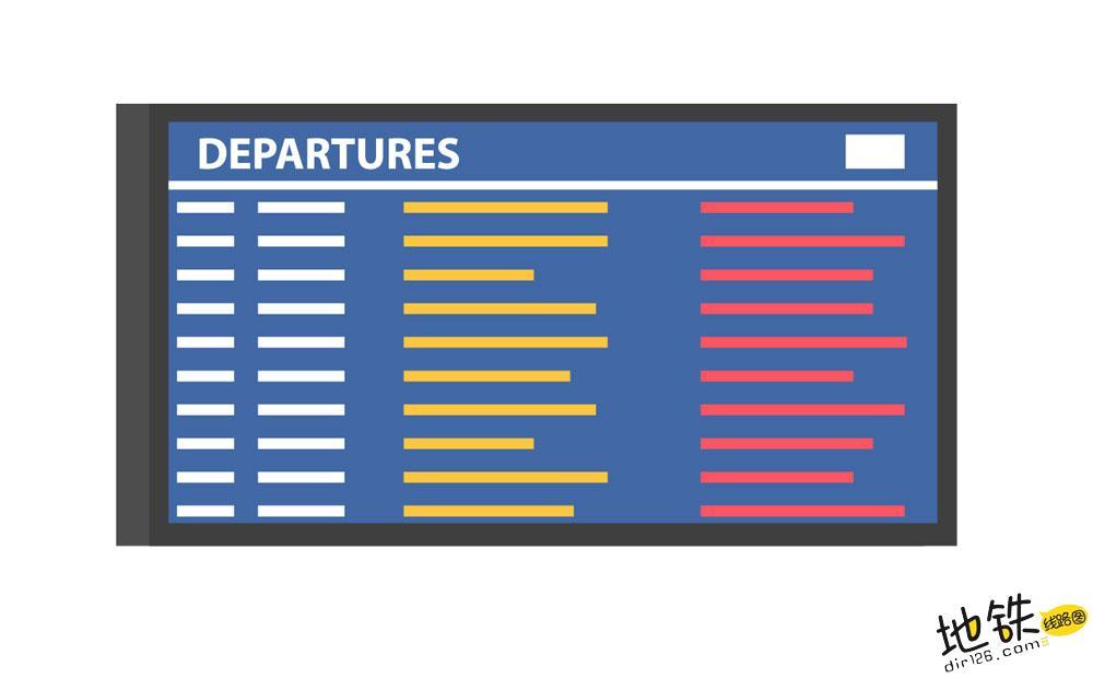 地铁列车运行图、列车时刻表是什么?