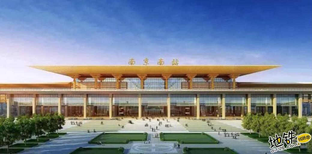中国唯一仿宫殿火车站,投资300亿光规划就花了17年 宫殿 高铁 交通 南京南站 火车站 轨道动态  第7张