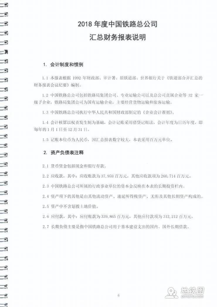 中铁总2018财报:负债5.23万亿,营收万亿,利润上升12% 利润 负债 营收 2018 财报 中国铁路 高铁资讯  第5张