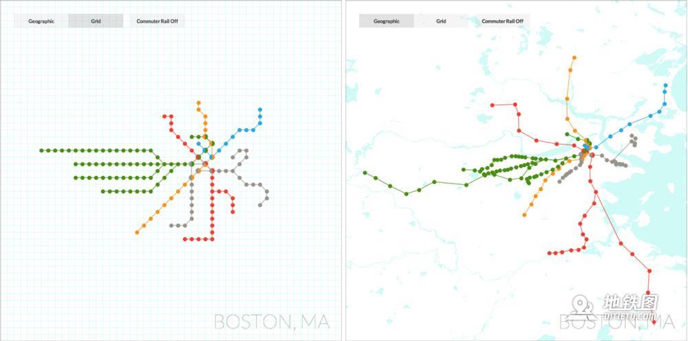 多形态的地铁图