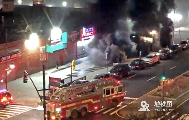 纽约地铁发生火灾,致1死16伤