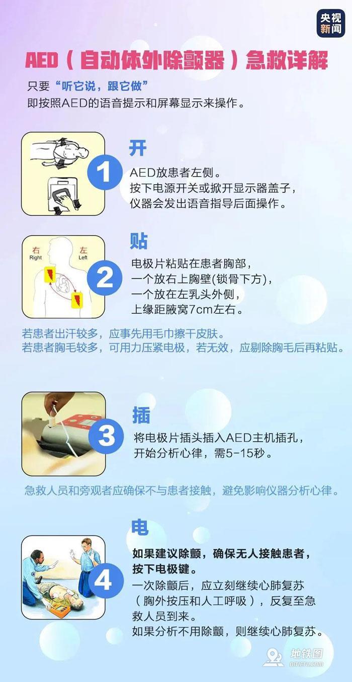央视呼吁地铁配备AED宜早不宜迟 央视 地铁站 AED 轨道动态  第2张