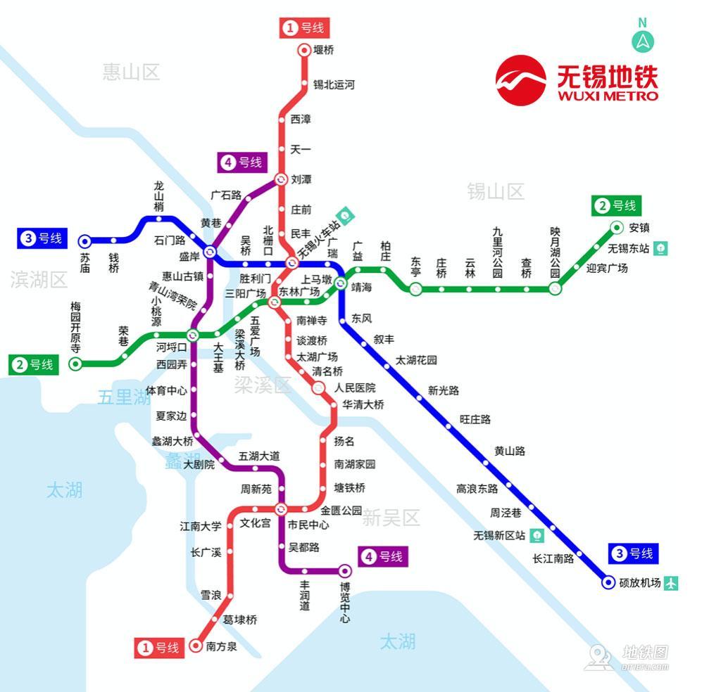 无锡地铁线路图_运营时间票价站点_查询下载
