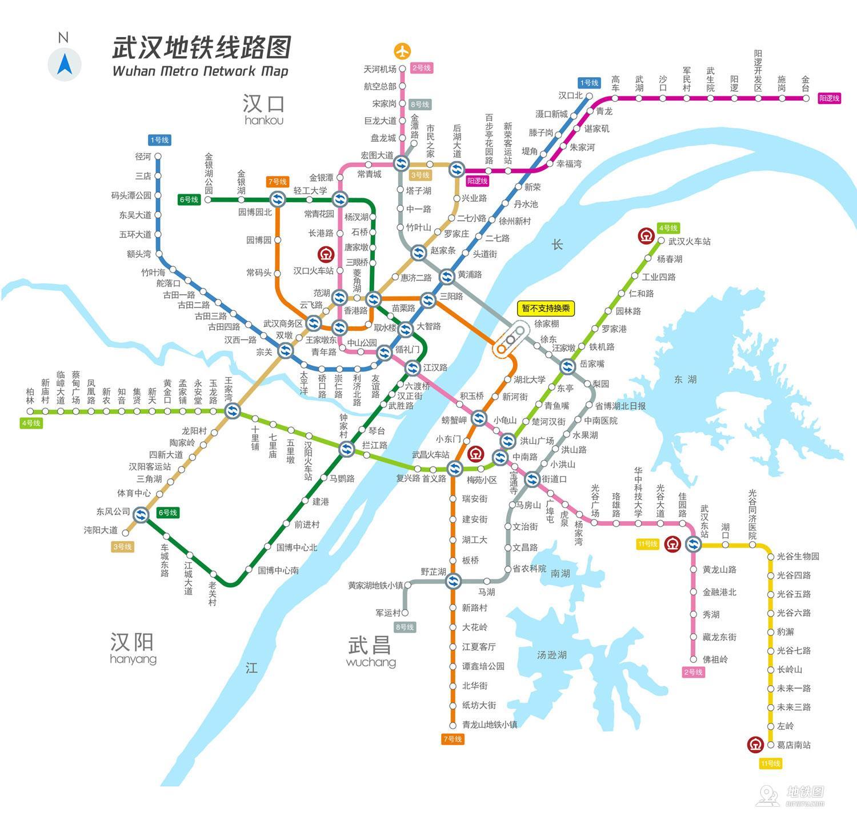 武漢地鐵線路圖_運營時間票價站點_查詢下載