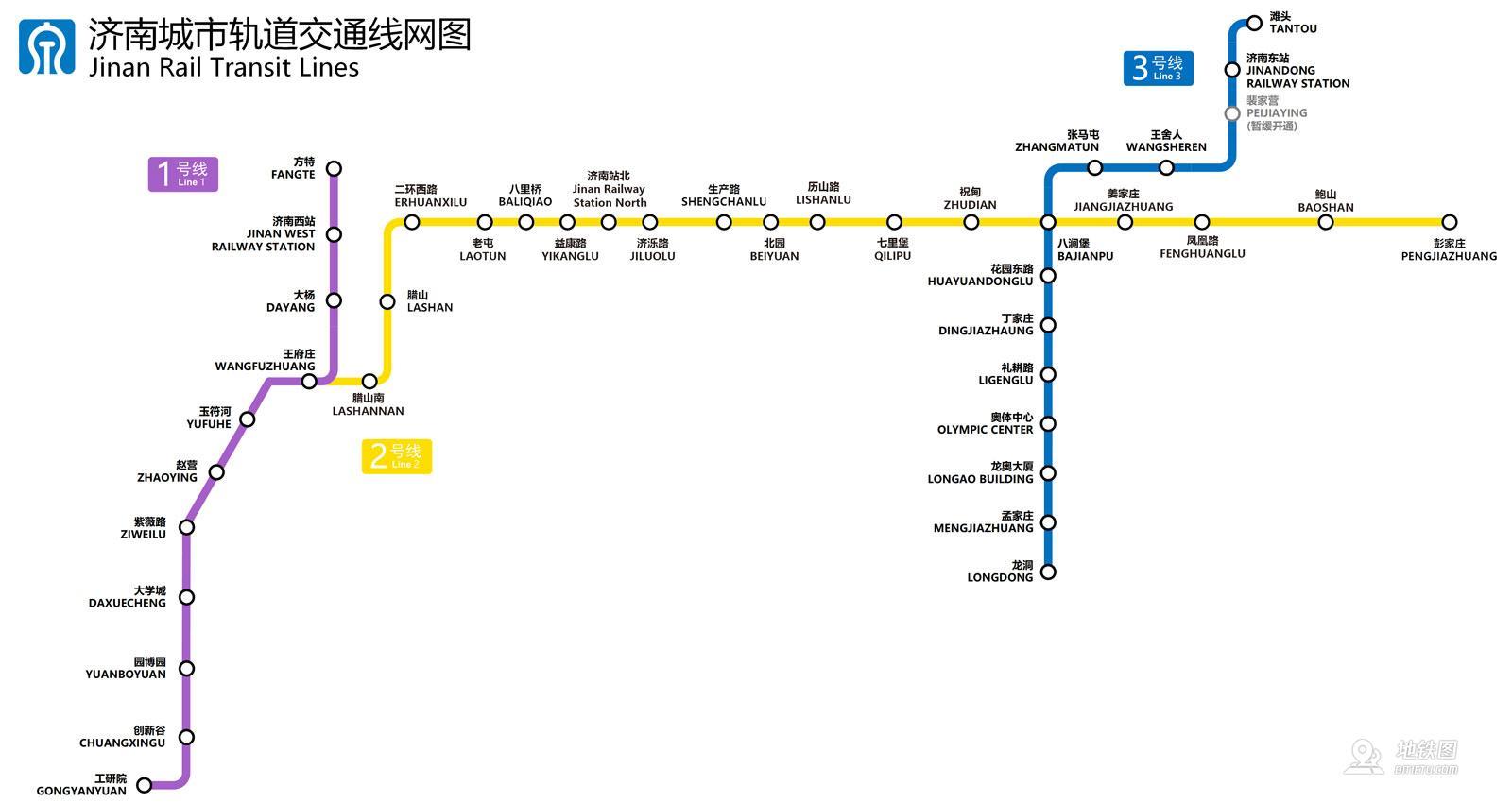 濟南地鐵線路圖_運營時間票價站點_查詢下載