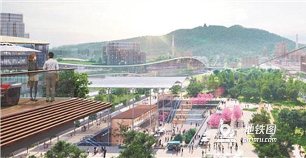 杭州地铁首个花园TOD设计方案揭晓